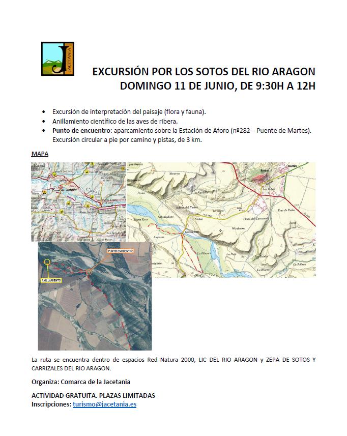 Excursión medioambiental por los Sotos del Río Aragón