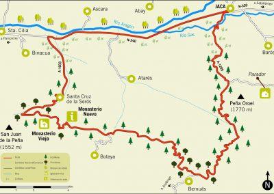 Ruta 12: Jaca - Peña Oroel - San Juan de la Peña - Santa Cruz Serós - Jaca